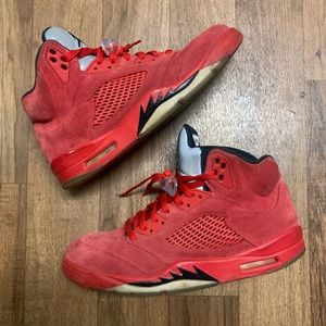 Nike Air Jordan Retro Suede Red 5's Size 11